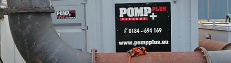 Pomp Plus verhuurt pompen en pompinstallaties.